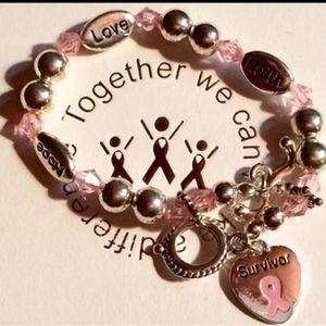 """Breast Cancer Survivor Bracelet. 7 1/2"""" long"""